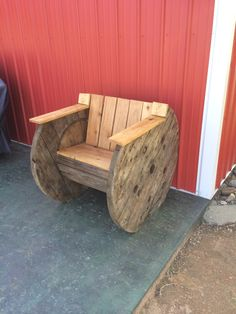 Spool chair I built
