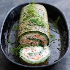 Wild Alaska Salmon and Spinach Roulade
