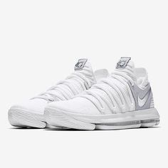 Men s Nike Zoom KD 10 Basketball Shoes White Chrome Platinum Size 16 897815  100 Condition is New with box. d17826b20d