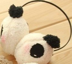 Winter Cute Panda Earmuff Ear Muff Warmer by Panda ear muff. $6.50. SIZE: One size fits most. Color:Cream White. Warm and Cute.