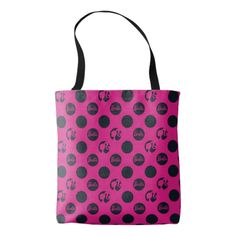 Barbie | Polka Dot Silhouette Pattern Tote Bag
