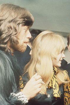Mick Jagger and Marianne Faithfull, 1968.