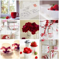 Red and White Collage