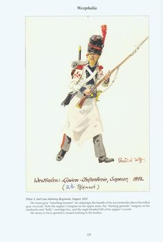 The Confederation of the Rhine - Westphalia: Plate 5. 2nd Line Infantry Regiment, Sapper, 1812