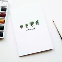 don't be a prick cacti cactus art notebook a6 lined paper free postage