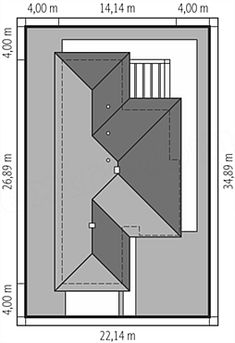 Usytuowanie projektu Karen energo na działce Village House Design, Village Houses, Plot Ideas, House Plans, How To Plan, My Favorite Things, Tile, Home Decor, New Houses