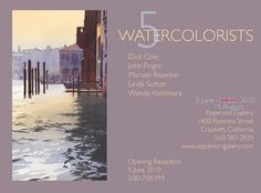 The 5 Watercolorists exhibit at the Epperson Gallery  has been extended to August 15th. If you haven't had a chance to see it, you'll have ...
