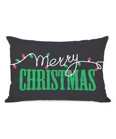 This Light Strand 'Merry Christmas' Rectangular Throw Pillow is perfect! #zulilyfinds