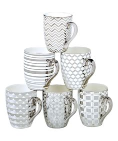 Look at this Silver Elegance Tapered Mug - Set of Six on #zulily today!