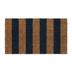 KVORING Deurmat IKEA Makkelijk schoon te houden - alleen stofzuigen of uitschudden. Latex onderkant; de mat blijft stevig op zijn plaats liggen.