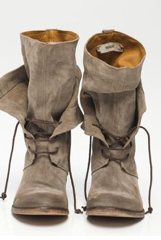 "Suede mid-calf boots with shoelaces by Humanoid  ""Camilla"" 