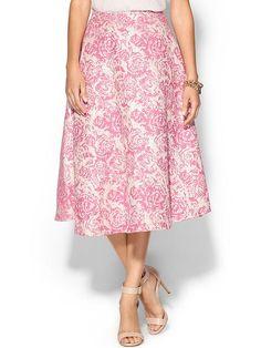 Champagne & Strawberry Brocade Skirt