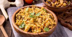 Recette de Bolée minceur de riz complet aux carottes et raisins secs . Facile et rapide à réaliser, goûteuse et diététique.