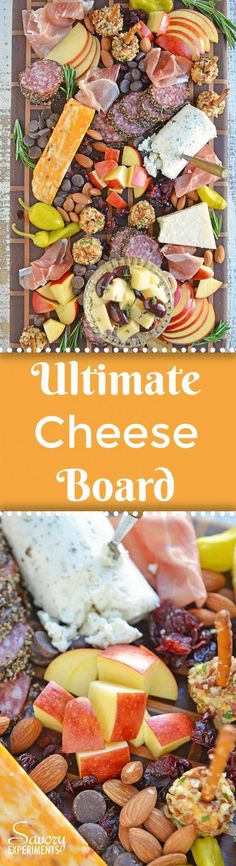Tips for building the ultimate cheese board, the perfect easy party appetizer that requires no cooking! Ideas for meat, cheese and accompaniments. #cheeseboard #cheeseplatter www.savoryexperiments.com  via @savorycooking