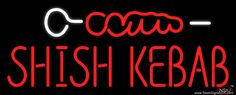 Shish Kebab With Logo Handmade Art Neon Sign Neon Food, Shish Kebab, Logo Real, Handmade Art, Tube, Neon Signs, How To Get, Free Shipping, Delivery