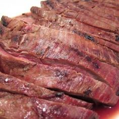 Grilled Flank Steak with Coffee Marinade from www.rieglpalate.com, found @Edamam!