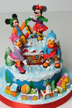 Mickey and his friends in winter time - Cake by Viorica Dinu