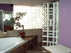 NATURE INSPIRED MASTER BATH-like the open shower concept right next to the tub