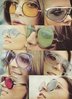 Sunglasses become a fashion accessory. No longer carry the stigma they had in the 50s/60s Greater choice in shapes/colors of the frames.