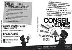 R° Flyer noir et blanc - A4 Horizontal - Conseil des Jeunes 2013 - LE MANS