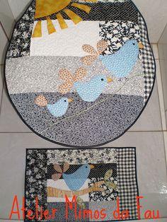 Conjunto para Banheiro Pássaros