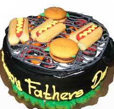 Fathers Day grill cake from Mueller's Bakery!