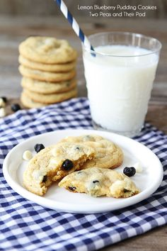 Lemon Blueberry Pudding Cookies