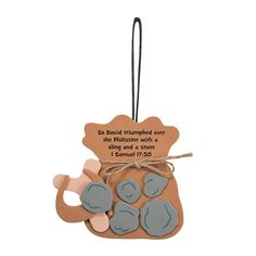 David & Goliath Ornament Craft Kit - OrientalTrading.com $6.40. Makes 12.