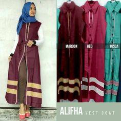 Model Busana Remaja Alifha Long Vest - http://bajumuslimbaru.com/busana-remaja-alifha-long-vest #LongVest, #Tunik, #TunikMuslim