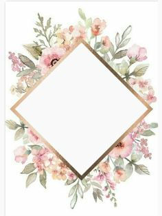 Template Flower Background Wallpaper, Cute Wallpaper Backgrounds, Pretty Wallpapers, Flower Backgrounds, Iphone Wallpaper, Frame Floral, Flower Frame, Invitation Background, Floral Invitation