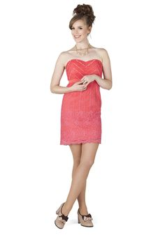 Coral Arrangements Dress, #ModCloth