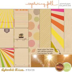"""Printable -- """"Capturing Fall"""" Journal Cards [and Papers] from Splendid Fiins {on Facebook} 