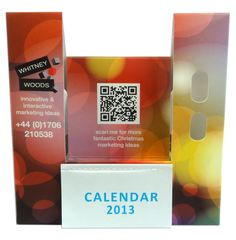 Phone holder, could rugby brand with scratch off prize where calendar sits currently, also use augmented reality when qr code is used to take you straight to twickenham?