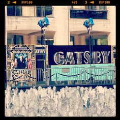 The Great Gatsby (2013) | NYC Premiere: prepping the arrival area beyond the fountains at Lincoln Center.