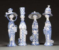 Bjorn Wiinblad 'The Four Seasons' Ceramic Figurines