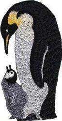 Novelty Iron on Patch - Animal Kingdom Penguin Mom & Baby Applique