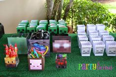 Minecraft Party Favors #minecraft #partyfavors