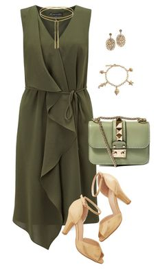 Wrap dress by doramoleiro on Polyvore featuring Adrianna Papell, Chelsea Crew, Valentino, Bling Jewelry and wrapdress