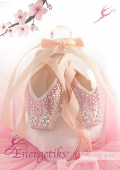 Energetiks Hand Decorated Swarovski Pointe Shoes | By Elly Ford