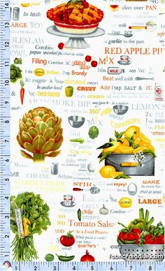 Kiss the Cook - Chef's Illustrated Terms - Food & Beverages, Elkabee's Fabric Paradise.com, LLC