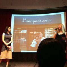 The amazing ladies of @lunapads at @Conscious_Divas (@luna_gal @luna_diva)