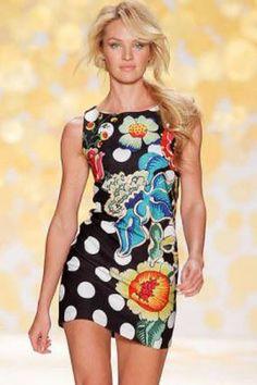 Vestido corto estampado verano 2014 http://www.prestigiofashion.com/1931-thickbox/vestido-estampado-topos-primavera.jpg