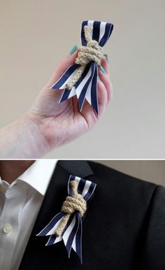 pink ribbon and white rope instead of the navy since the ceremony is all pink