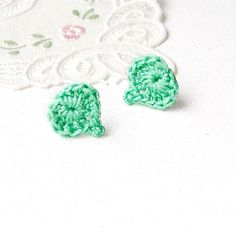 Earring Studs hearts For little ballerina  by MiracleFromThreads, $12.00