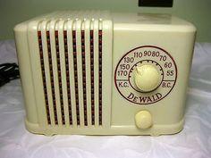 Vintage Dewald 4 Tube Midget Radio Model B 401 for Parts or Repair | eBay