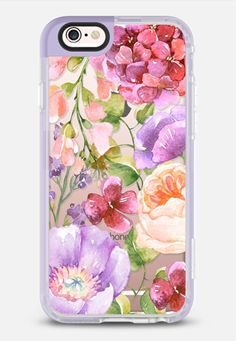 Casetify iPhone 7 Case and Other iPhone Covers - Pink and Purple Watercolor Florals iPhone Case by Ruby Ridge Studios Cool Cases, Cool Iphone Cases, Iphone Camera, Apple Products, Pretty Pictures, Floral Watercolor, Ipad Case, Cell Phone Accessories, Purple