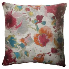 Knife-edge pillow with an abstract motif and eco-friendly recycled fill.   Product: PillowConstruction Material: