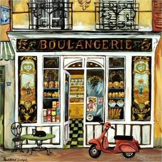 Boulangerie and Red Scooter (Suzanne Etienne)