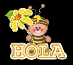 gif hola image by Good Morning Gif Animation, Sweet Dreams Pictures, How Ya Doin, Hello Welcome, Spanish Quotes, Art Quotes, Blessed, Cute Animals, Christmas Ornaments