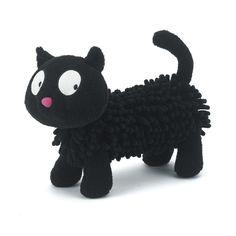 Zwarte kat Scatty Catty is een ondeugende maar wel een lieve kat van het merk Jellycat. Met zijn grote nieuwsgierige ogen en zijn langwerpige lichaam met grappige dreadlock vachtje is hij zeer geschikt om geknuffeld te worden. Jellycat, zonder twijfel, 's werelds zachtste knuffels!